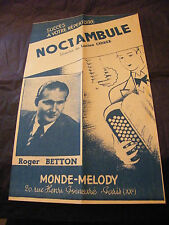 Partition Noctambule Chirex Roger Betton 1952 Music Sheet