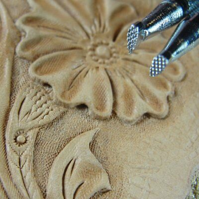 4-Piece Set, Leather Stamping Tools Craft Japan Checkered Background Stamps