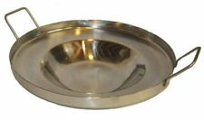 16 Inch Round Stainless Steel Comal Wok Concave Griddle Stir Fry Multi Purpose