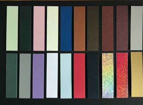 Layering Panel 18mm x 72mm straight edged card topper//embellishments pk20