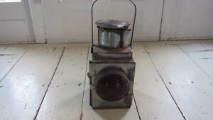 Details about Vintage Train Lantern Railroad red lamp signal lens, 1 of a  pair, transportation
