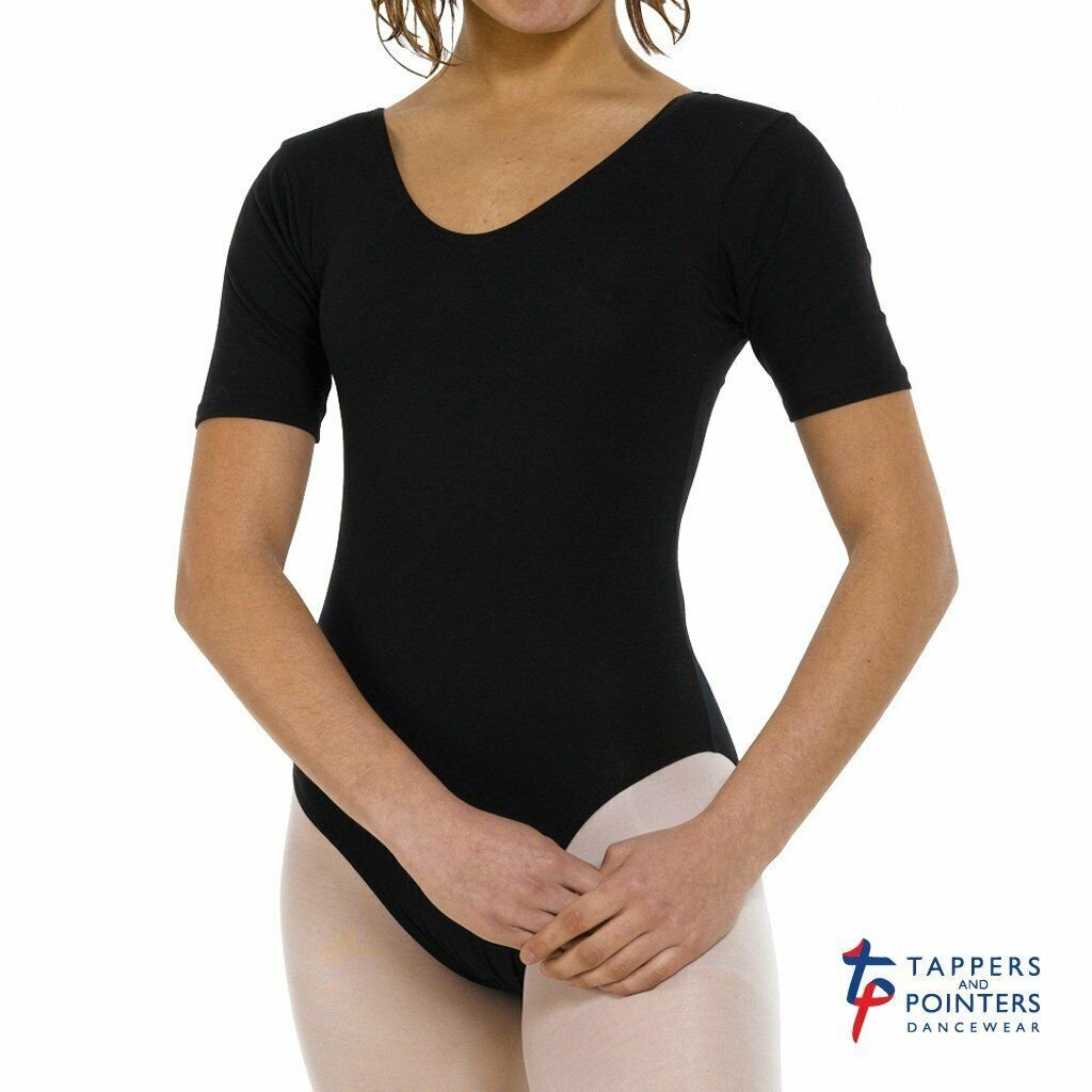 CLOSING DOWN Tappers and Pointers Children's Short Sleeve Plain Front Leotard