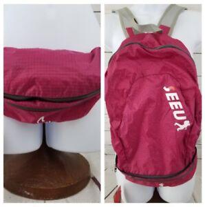 SEEU-Sling-Bag-Backpack-for-Women-039-s-Lightweight-Pink-Convert-Into-Fanny-Bag