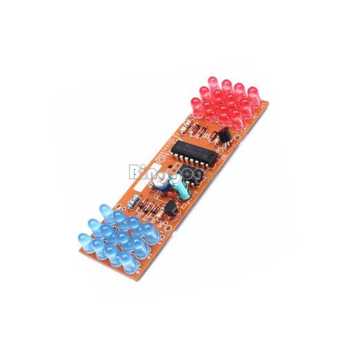Red/&Blue Dual-Color Detonation Flashing Light DIY Kit Electronic Suit NEU