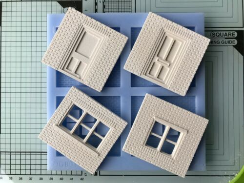 Doors and Windows Sections O gauge BRICK BUILDINGS Mould OGB03 O Scale