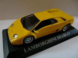 DCD2 voiture 1/43 altaya IXO DREAM CARS boite vitrine: LAMBORGHINI Diablo jaune