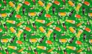 Baumwolle-Jersey-Stoff-Digitaldruck-Quality-Textiles-Bier-Gruen-150-cm