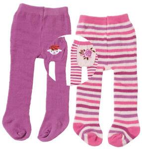 Zapf-Creation-Baby-Annabell-Strumpfhosen-Set-40-46-cm-Violett-Pink