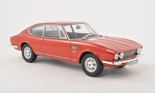 BoS 1967 Fiat Dino Coupe 2000 Red Limited Edition of 1000 1 18 Scale. Rare