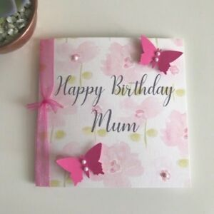 Image Is Loading Handmade Personalised Birthday Card Mum Grandma Nana Sister