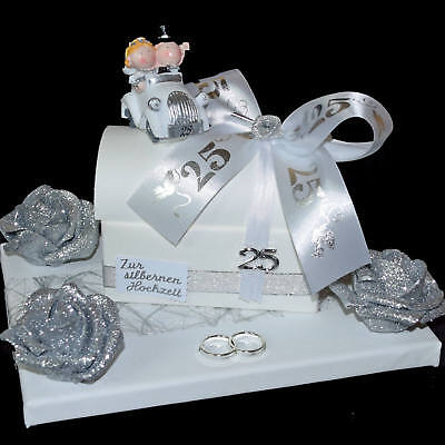 ღ Geschenk Zur Silbernen Hochzeit ღ Silberhochzeit Geld