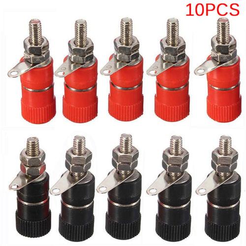 10PCS 4mm Binding Post Speaker Terminal Banana Plug Socket Jack Connector XS