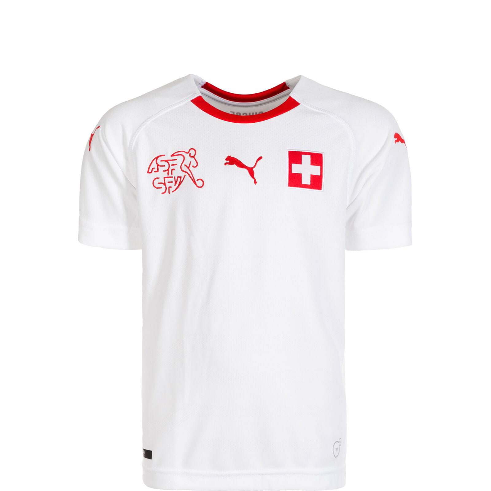 Puma Schweiz Trikot Away WM 2018 Kinder weiß / rot NEU