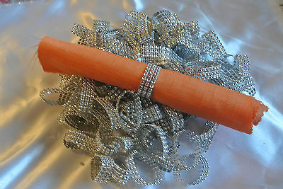 100 Rhinestone Looking Napkin Rings