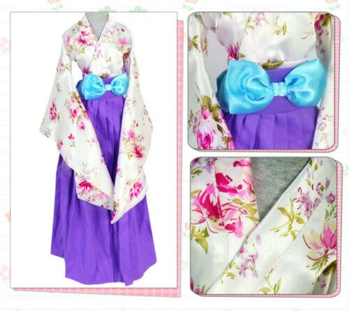 1//3 SD BJD Clothes Dress Archaic Style Tailed Sleeves Flowers Printing AS AOD DF