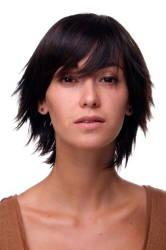 Women's Wig Bob Wig short Layered Frigid Mahogany Braun Highlights 49033