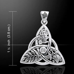 Mickie-Mueller-Oak-Ash-Thorn-Triquetra-Sterling-Silver-Pendant-by-Peter-Stone