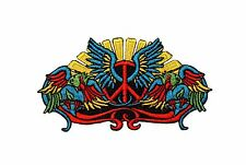 Peace Sign Wings Hippie Iron On Badge Applique Patch