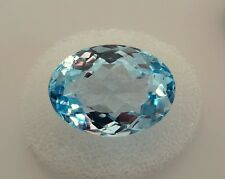 Oval Cut Genuine (Natural)  Blue Topaz ( 18X13mm ) Loose Stone 18.82ct. gemstone