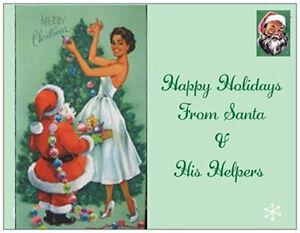 20-CHRISTMAS-African-American-Vint-Repo-SANTA-TREE-5-5X4-POSTCARDS