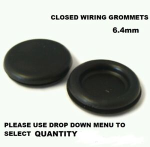 Occhielli Cablaggio Gomma 12.3 mm aperto l/'occhiello Cavo elettrico protezione