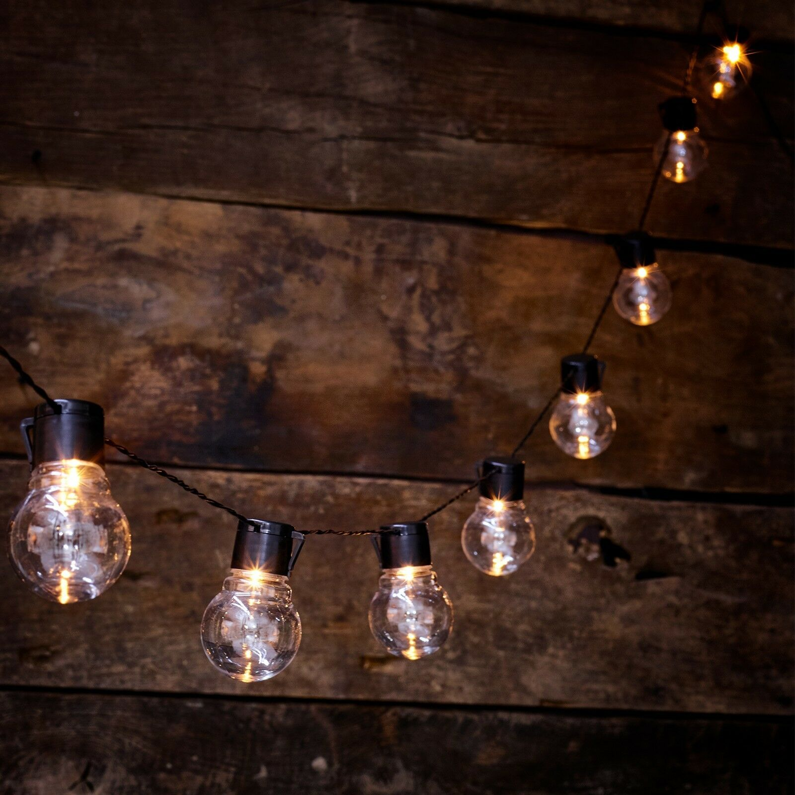 Solar Ed Retro Bulb String Lights