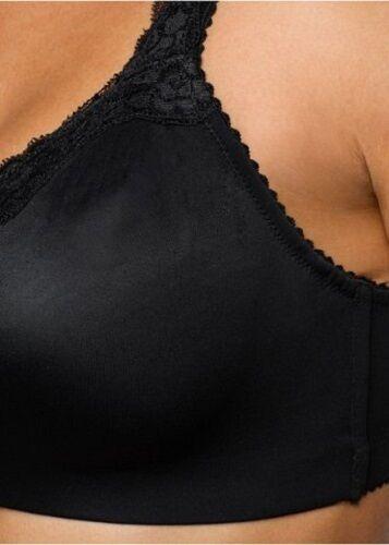 Cup D E F T-Shirt BH schwarz ohne Bügel mit Spitze 75 80 85 90 95 100 105