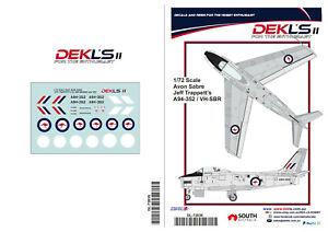 1-72-Avon-Sabre-Warbird-Jeff-Trappett-039-s-VH-SBR-A94-352-Decal-DEK-L-039-s-II
