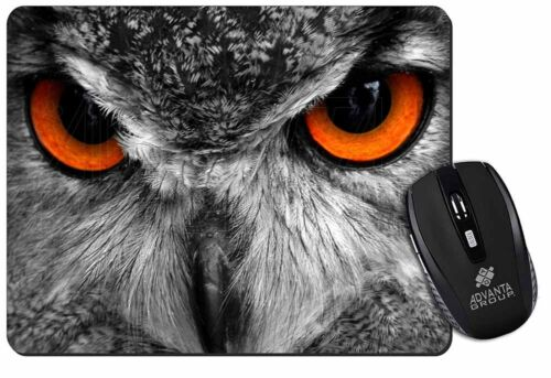 Grey Owl/'s Face Computer Mouse Mat Christmas Gift Idea AB-O8M
