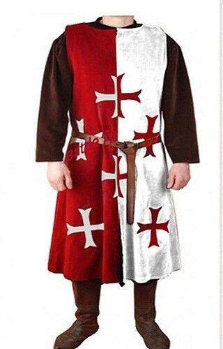 MEDIEVAL 6 TEMPLAR KNIGHT Tunic Surcoat Crusader Sleeveless Renaissance LARP