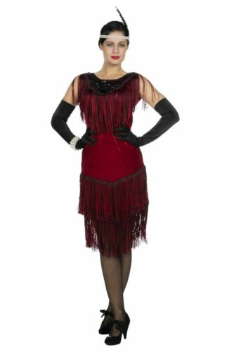 Damen Kostüm 20er Jahre Kleid Charleston Karneval Fasching WIL