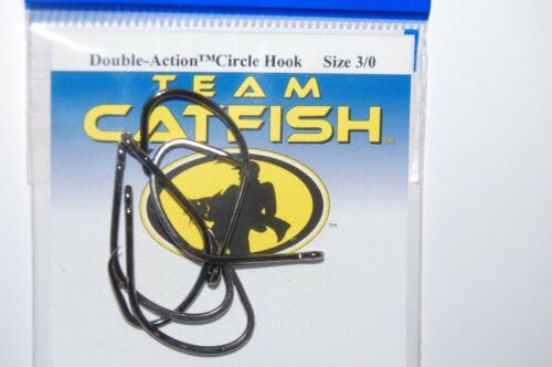 3 packs team catfish hooks real gear double action circle hook size 3//0 bait