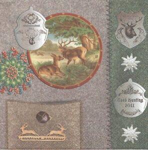 Lot De 2 Serviettes En Papier Chasse Cerf Decoupage Collage Decopatch Valeur Formidable