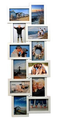 Bilderrahmen Fotogalerie 12 Bilder Kunststoff Bildergelarie Collage Weiss BR9723