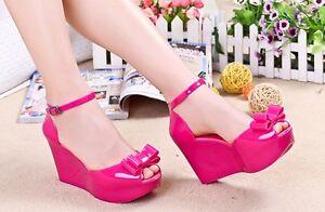 Womens-Jelly-Sandals-Open-Toe-Platform-Shoes-Plastic-Wedge-High-Heels-Buckle-k66