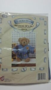 Doll-clothes-Teddy-Bear-Felt-Jacket-for-12-034-Bear-Doll-New-old-stock-1995-Build-a