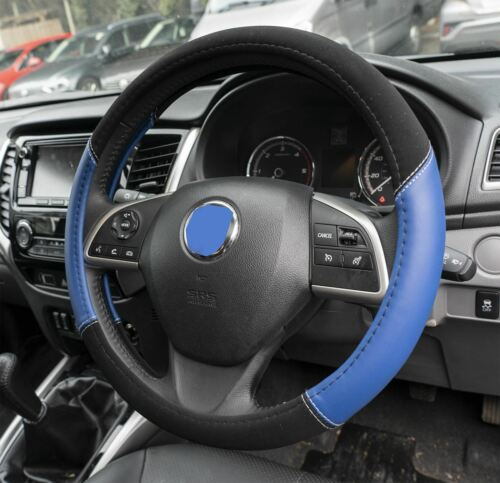 Blue /& Black Steering Wheel /& Front Seat Cover set for Fiat Barchetta 95-05
