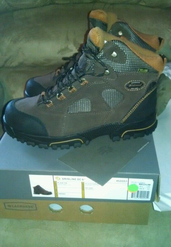 LACROSSE 6  GRIDLINE DC MENS HIKER WATERPROOF BOOTS SIZE 11.5 WIDE NEW SAVE  60