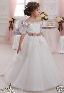 b0e7f79881c5 Flower Girl Dress, Little Girl Dress, Ivory Dress, Sunday Dress, Vintage ...