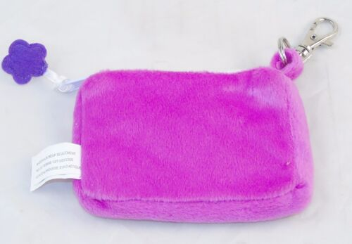 Plush Zippered Coin Purse ~ Embroidered Monogram Assorted Colors /& Alphabets