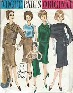 be2424a70309b5 Image is loading 1960s-Vintage-VOGUE-Sewing-Pattern-B34-SUIT-JACKET-