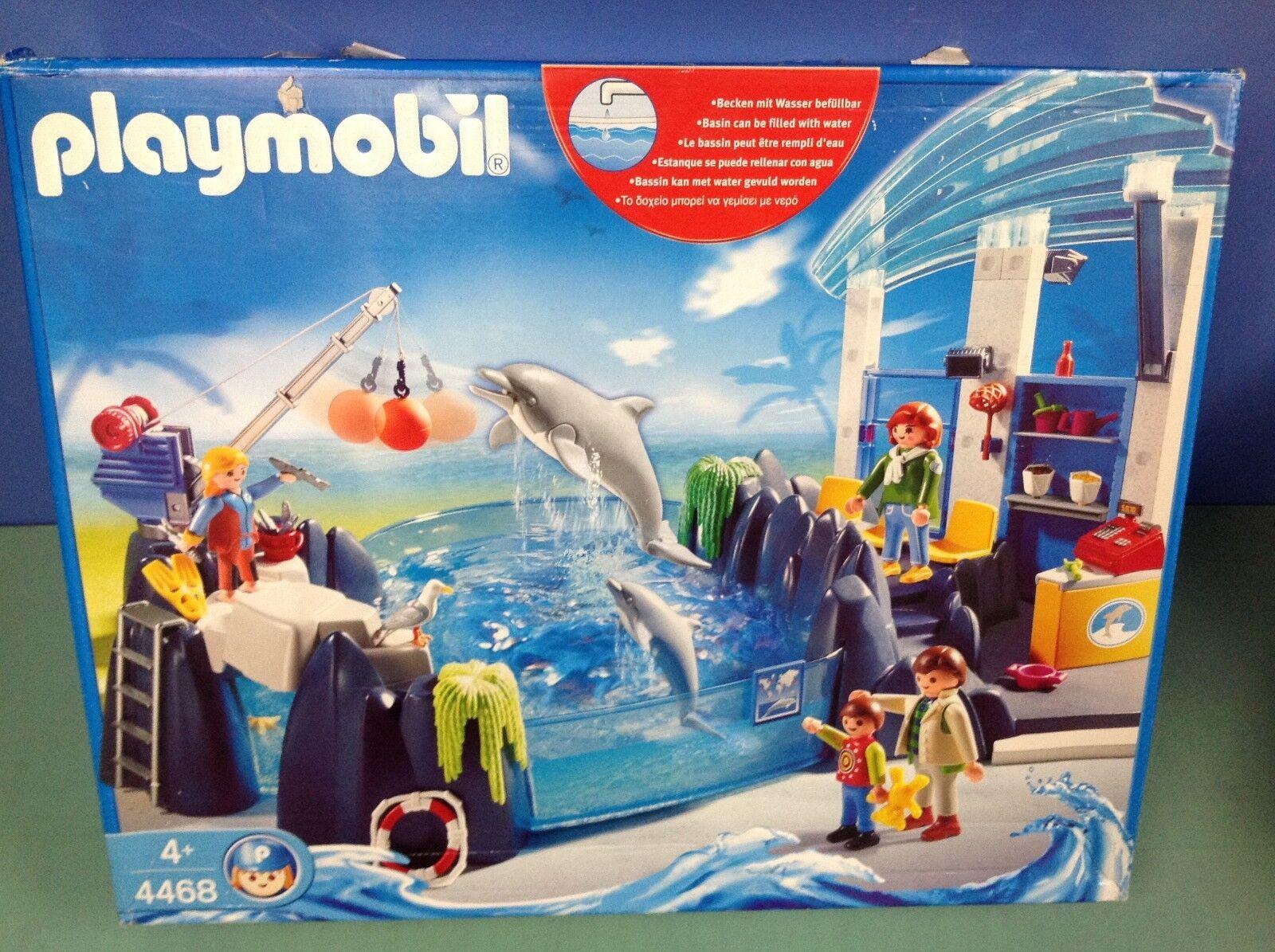 (P4468) playmobil Bassin des des des dauphins ref 4468 complet en boite zoo 3240 4462 882529