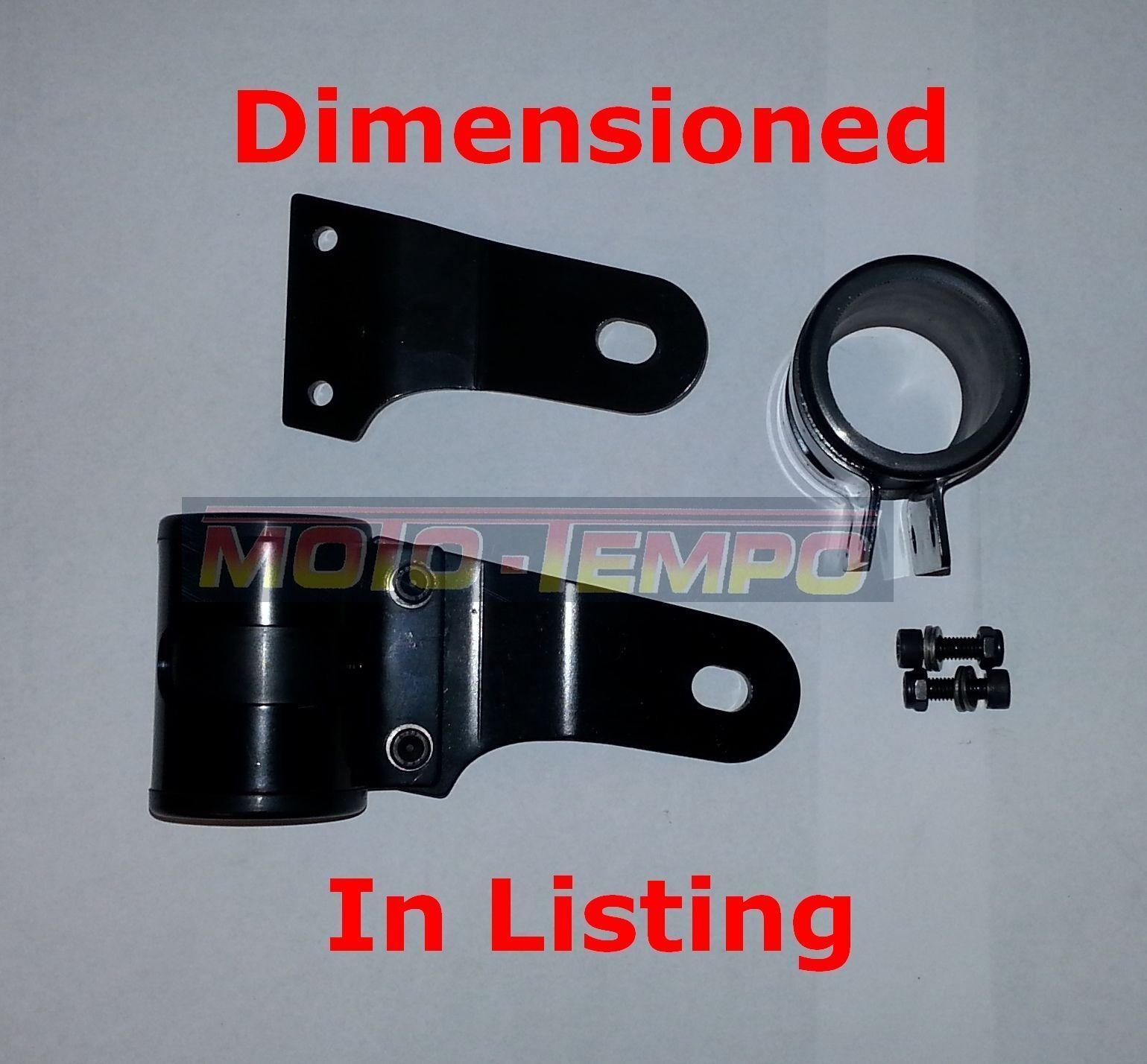 Black headlight bracket to fit USD forks 50mm 51mm 52mm 53mm motorcycle cafe