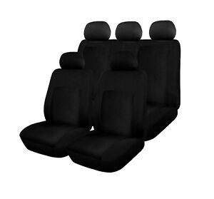 Sitzbezuege-Schonbezuege-KfZ-Auto-Schwarz-Neu-Komplettset-Komfort-Polyester-fuer