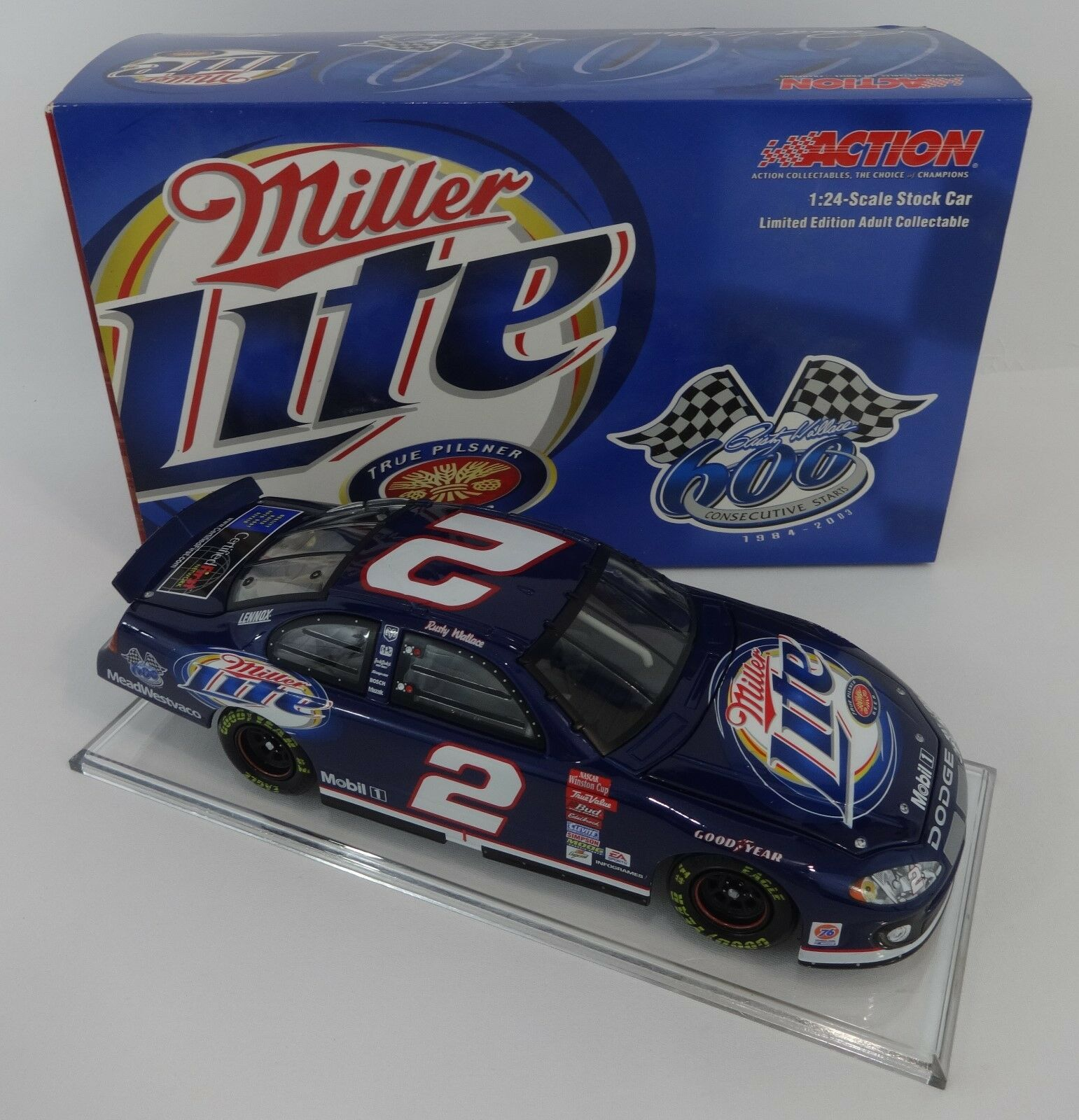2003 Rusty Wallace 600 Consecutive Starts Starts Starts Action 1 24 Die Cast Winston NASCAR c10057