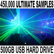 450,000+ Ultimate Dance Samples Collection on a 500gb USB Portable Hard Drive