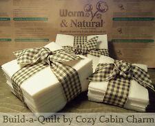 Warm & Natural Rag Quilt Precut Batting Fabric Squares *Pick Size/Quantity*