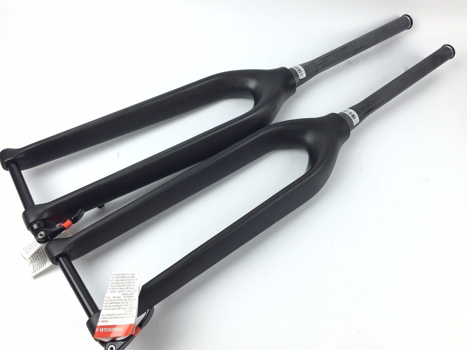 Mountain bike matt 3K UD full carbon fibre  bicycle thru axle taper fork MTB 29er  online