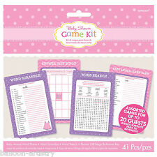 Pink Girl's New Baby Shower With Love Party Game Fun Activity Set