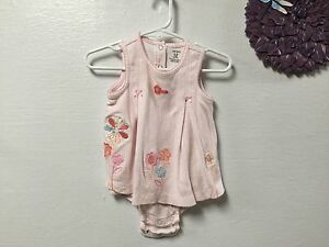 c49c5f62ba8b Baby girl s dress CARTER S size 12 months pink white floral snap ...